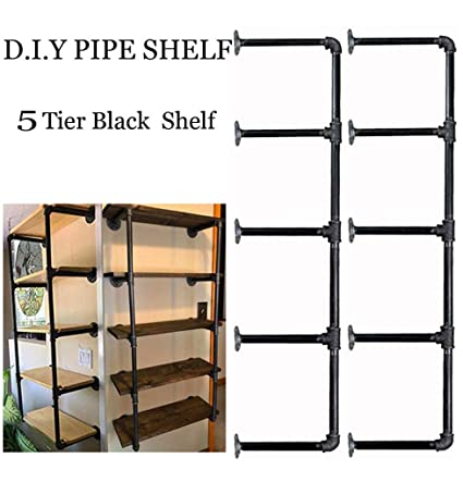 Merveilleux FOF Industrial Black Pipe Bookshelf, Wall/Ceiling Mounted Open Bookshelf,  Parts Kit DIY
