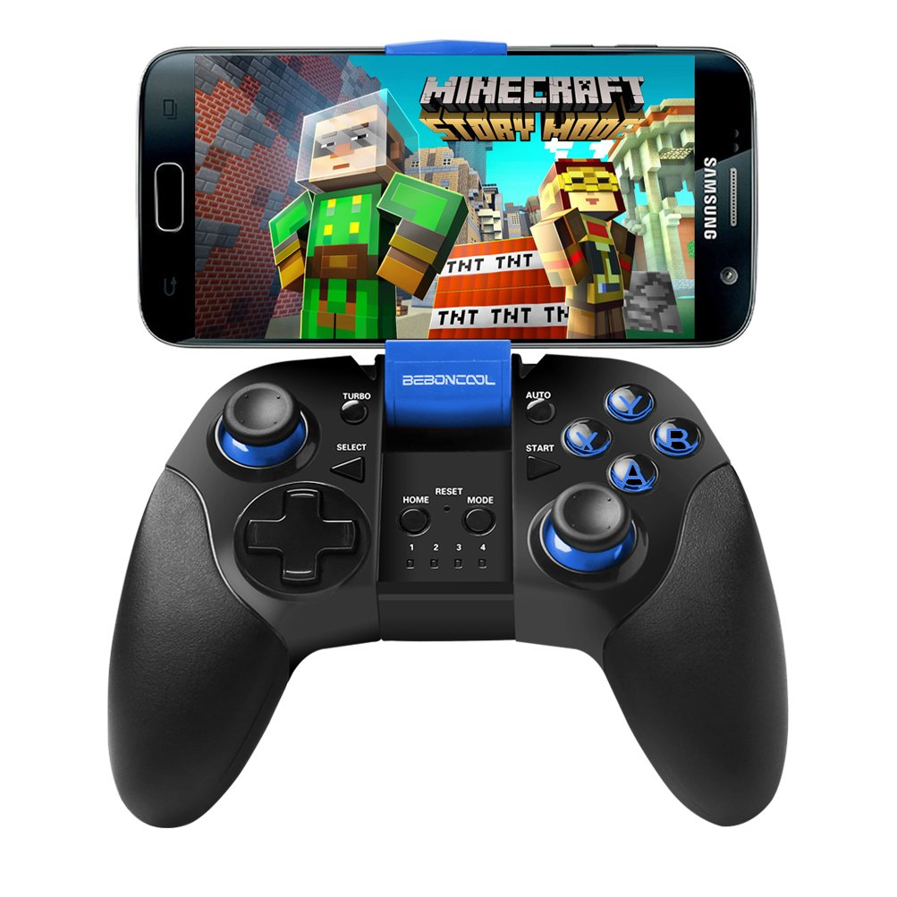 Android Bluetooth Phone Controller, BEBONCOOL Bluetooth Game Controller, Bluetooth Gamepad (For Android Phone/Tablet/Samsung Gear VR/Emulator) Gear VR Gamepad Controller