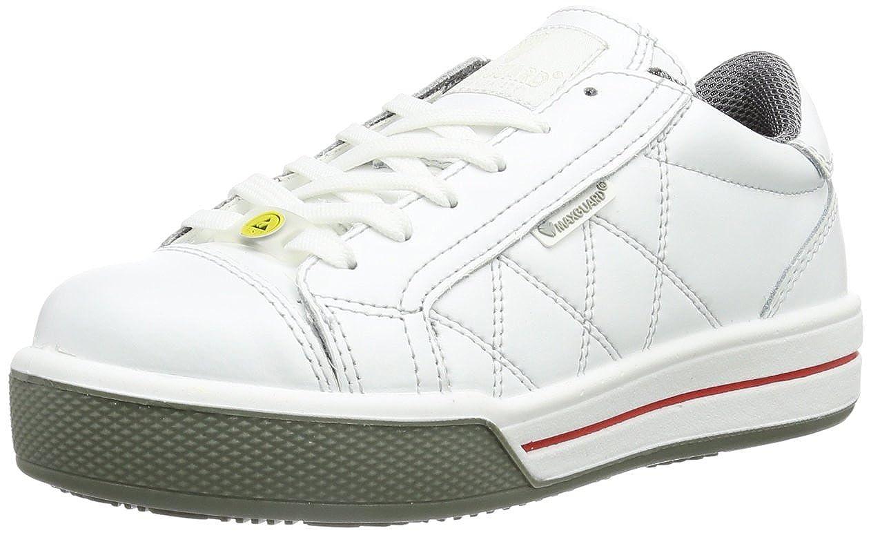 Maxguard SCOTT 900195 - Zapatos de protección de cuero para hombre, color blanco, talla 36