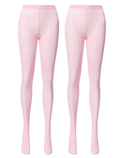 f9aed2c5b OSABASA Opaque Microfibre Tights for Women - Reinforced Opaque Brief  Pantyhose BABYPINK (KWMT05)