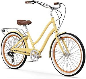 "sixthreezero EVRYjourney Women's Step-Though Hybrid Cruiser Bicycle & eBike, 24"" & 26"""