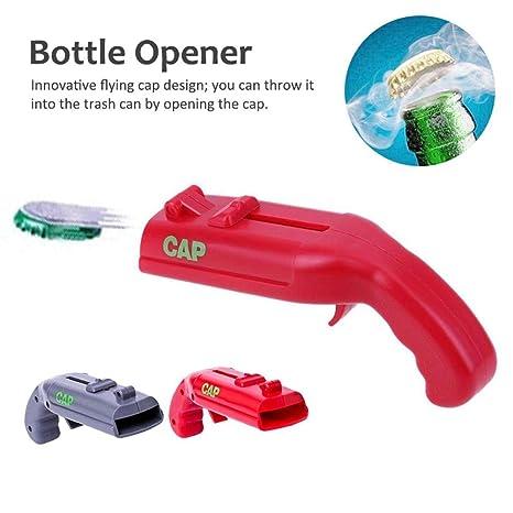 Abridor de botellas: lanzador con forma de pistola Tirador de cerveza Abridores de voladora -