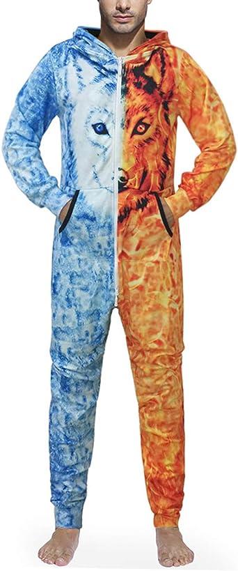 Feoya - Pijama para adulto, talla grande, todo en una sola ...