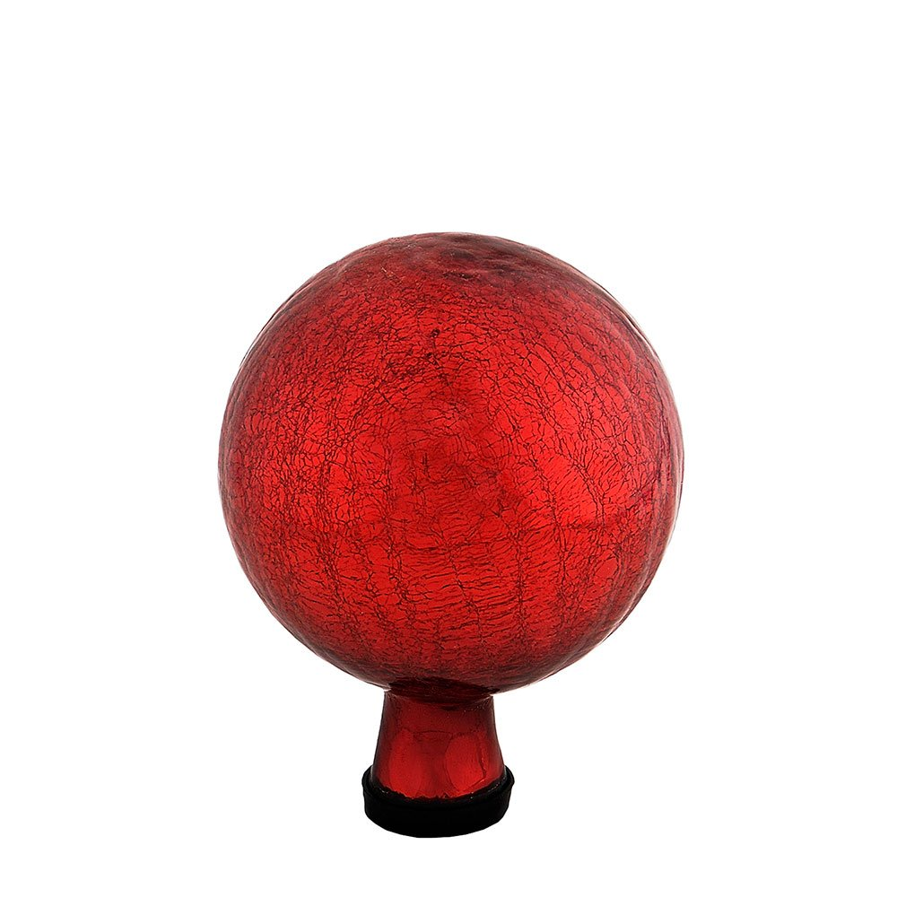 Achla Designs 6-Inch Crackle Gazing Globe Ball, Red