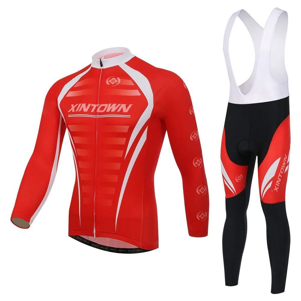 Frühling und Herbst New Sportswear Blast Lightning Reitanzug Langarmanzug Fahrrad Service Bike Jersey Set Fahrrad Trikot LPLHJD