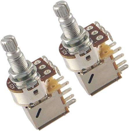 2 Piezas Potenciómetros de Guitarra Pack Push Potes para Amantes de Música Durable - B25K: Amazon.es: Instrumentos musicales
