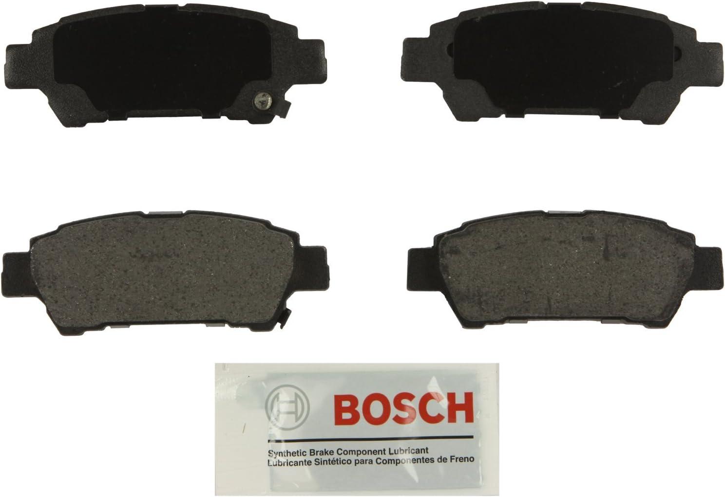 Bosch BC995 QuietCast Premium Ceramic Disc Brake Pad Set For 2004-2010 Toyota Sienna; Rear