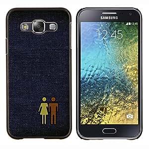 TECHCASE---Cubierta de la caja de protección para la piel dura ** Samsung Galaxy E5 E500 ** --Hombre Mujer Pareja Amor Par Arte Gráfico Aseo
