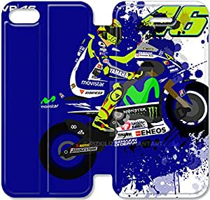 iphone 5 5s Cell Phone Case Valentino Rossi 46 Colorful Printing Leather Flip Case Cover A1ER422681