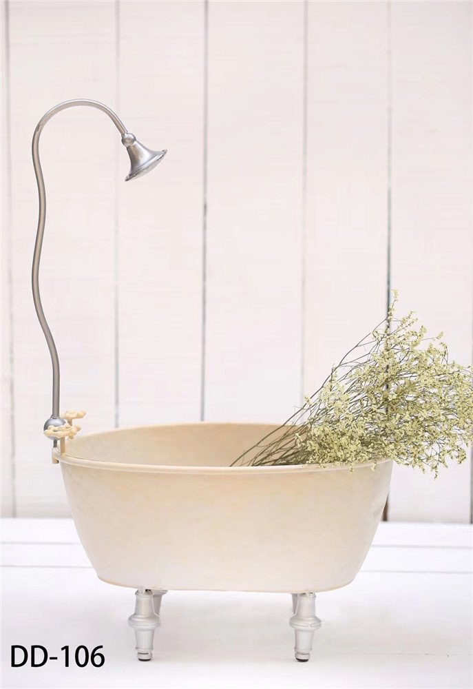 Dvotinst Baby Photography Props for Studio Shoots, Cute and Beautiful Iron Bathtub Posing Props for Newborn Photo (DD-106) by DVOTINST