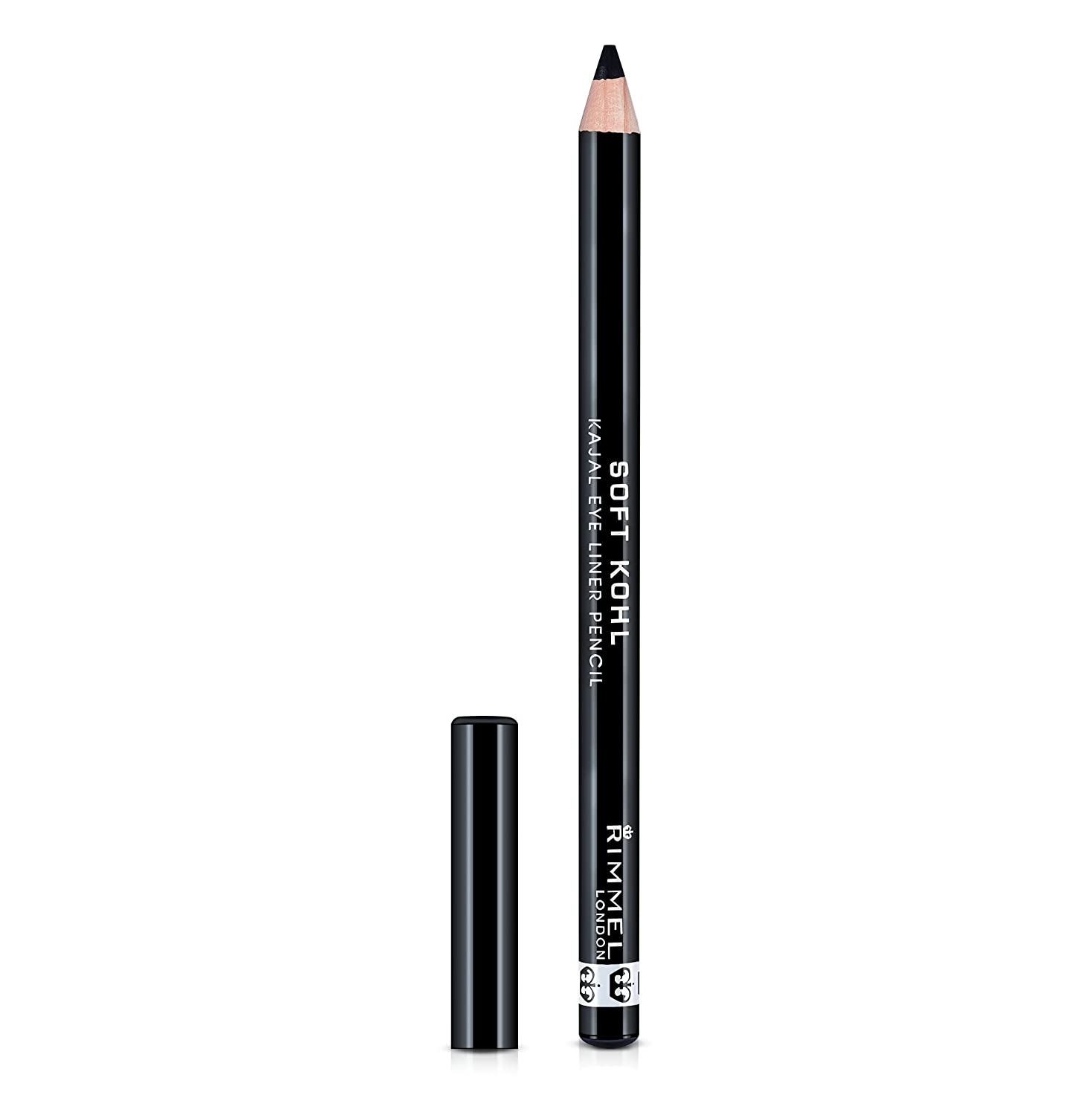 RIMMEL LONDON Soft Kohl Kajal Eye Liner Pencil - Jet Black 34788497061