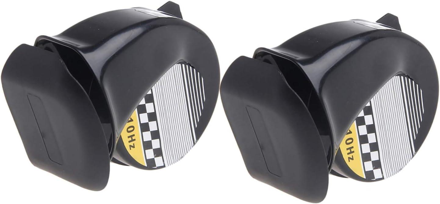 Gaoominy Universal wasserdichte Laut Schnecke Luft Horn Sirene 130Db Fuer 12 V LKW Motorrad 1 Stuecke