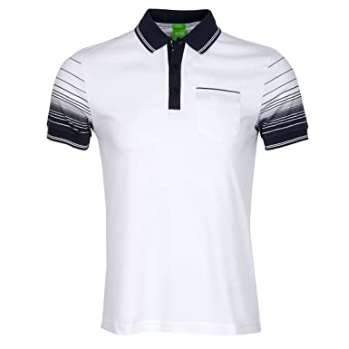 Hugo Boss - Polo de manga corta blanco blanco M: Amazon.es: Ropa y ...