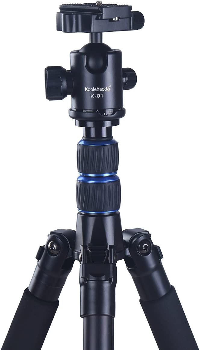CVEUE EL Tripod with Ball Head 62 Inch Tripod Detachable Monopod with Ball Head for DSLR Camera 150cm for Man Complete Tripods Color : Black, Size : One Size