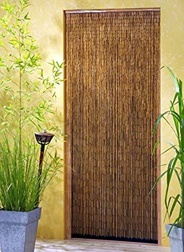 Leguana - Cortina para puerta de bambu saigón xxl 115x220cm!: Amazon.es: Jardín