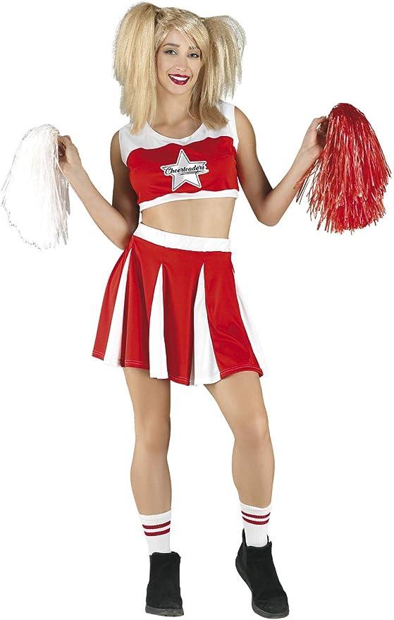 chiber Disfraces Disfraz Animadora Americana Cheerleader: Amazon ...