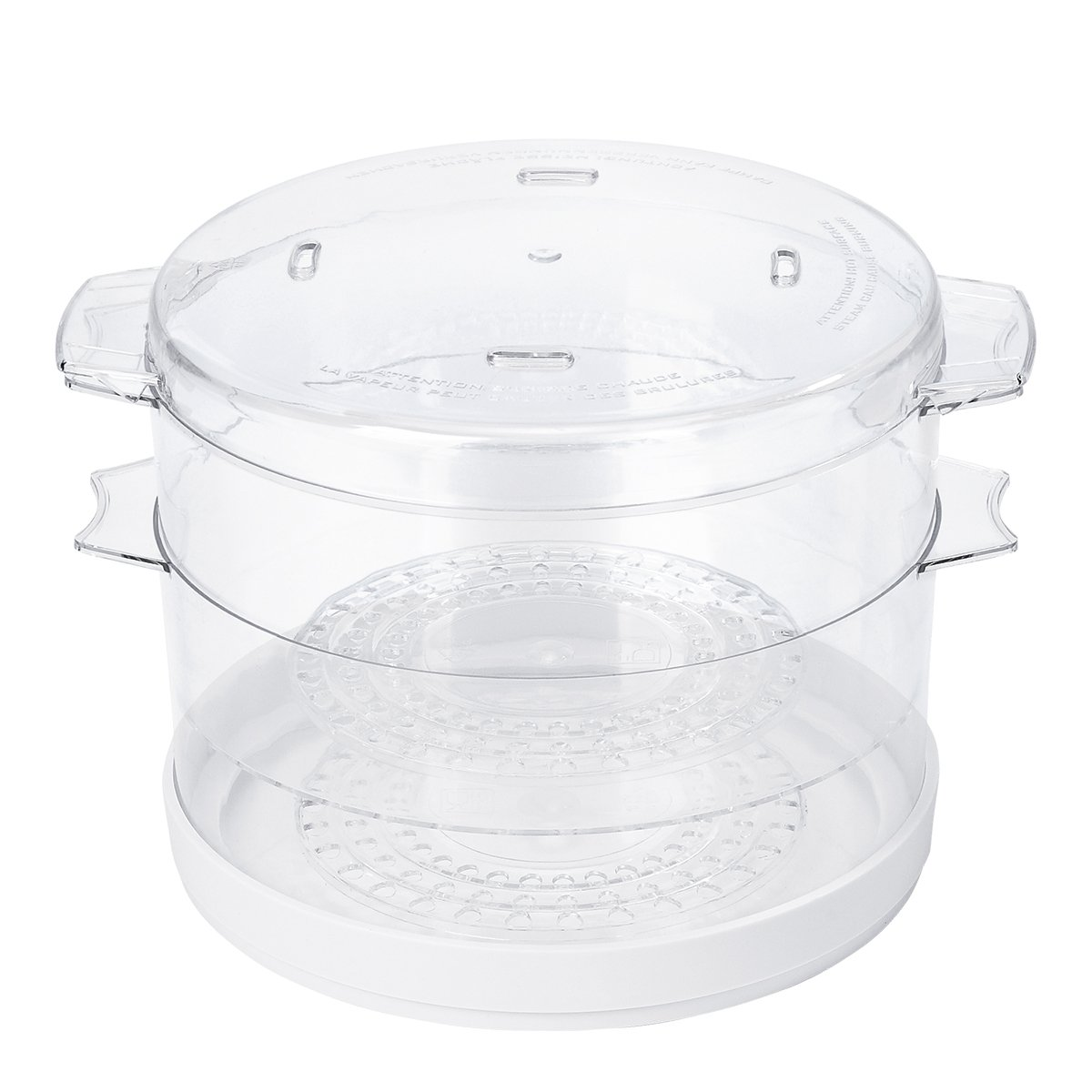 Amazon.com: Oster Double Tiered Food Steamer, 5 Quart, White  (CKSTSTMD5-W-015): Kitchen & Dining