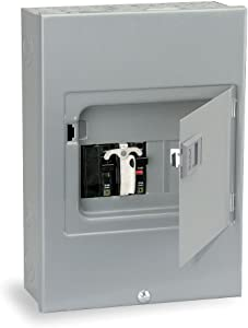 Square D by Schneider Electric QO 60 Amp 4-Space 8-Circuit Generator Panel Surface Mount with Door