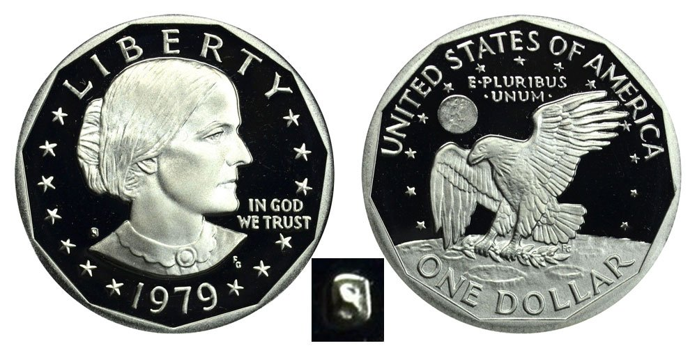1979 S Susan B. Anthony Proof Dollar Dollar Perfect Uncirculated US Mint
