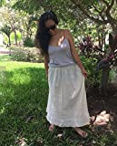 Mexican beige maxi long skirt