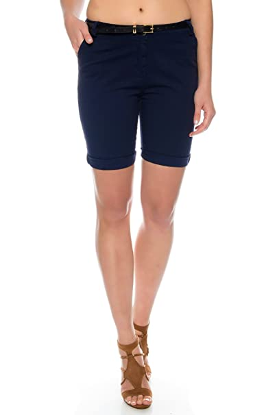 Kendindza Collection - Pantalón Corto - Chino - para Mujer Azul Oscuro S f95b940f1c7b