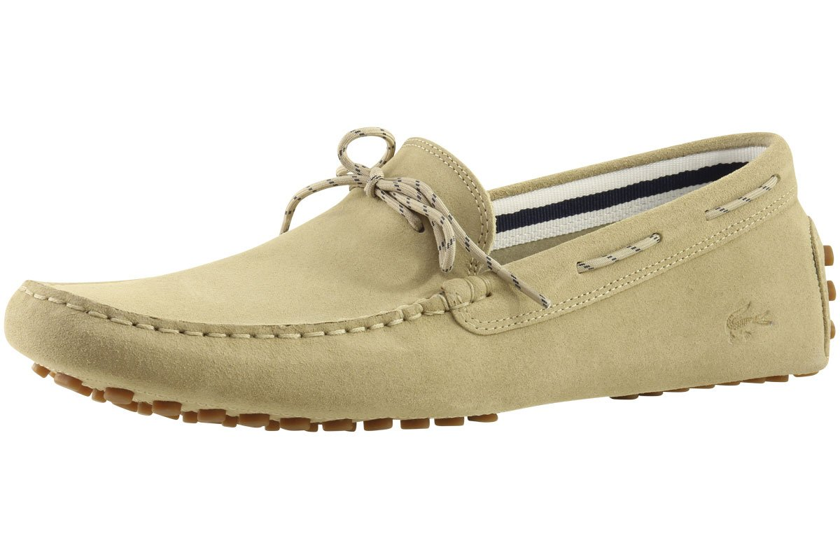 Lacoste Men's Concours Lace 216 1 Slip-On Loafer, Tan, 10 M US