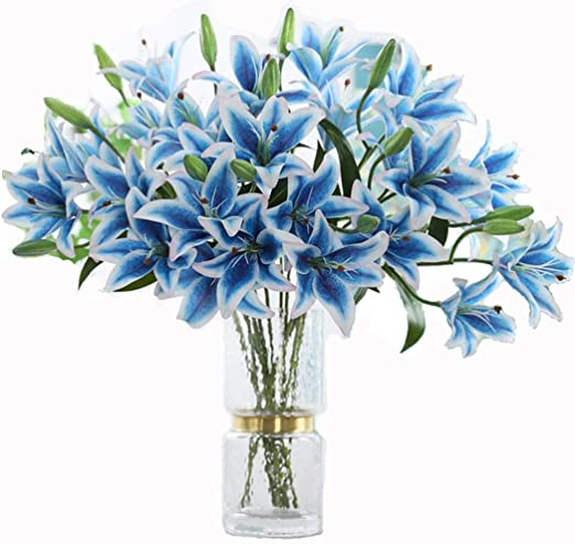 Artificial Fake flower Home Room Decor Real Touch Fake Flower  with 6 Colors SR