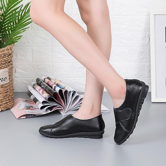 Yooeen Zapatos Mocasines Cómodos para Mujer Calzado de Trabajo Antideslizante Velcro Loafers Zapatos de Conducción: Amazon.es: Zapatos y complementos