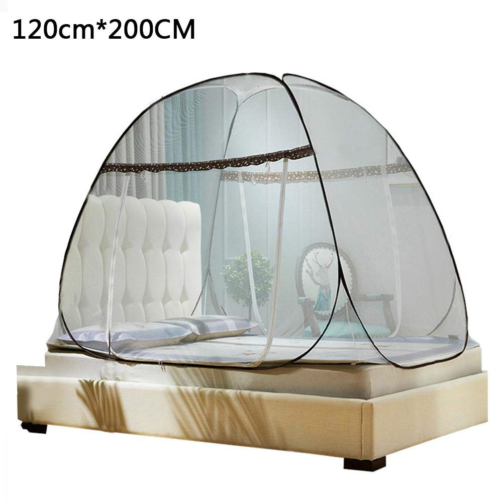 Sue Supply Folding Pop-Up Mosquito Net Tent for Beds Anti Mosquito Bites Design with Net Bottom for Babys Adults Trip