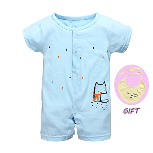 fdffc36cb Amazon.com  Sunny Rompers Set Summer Baby Boy Baby Girls Clothes ...