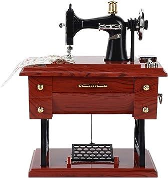 Bicaquu Vintage Mini Máquina de Coser Forma Caja de Música Mecánica Cumpleaños Decoración de Mesa para el Hogar: Amazon.es: Juguetes y juegos