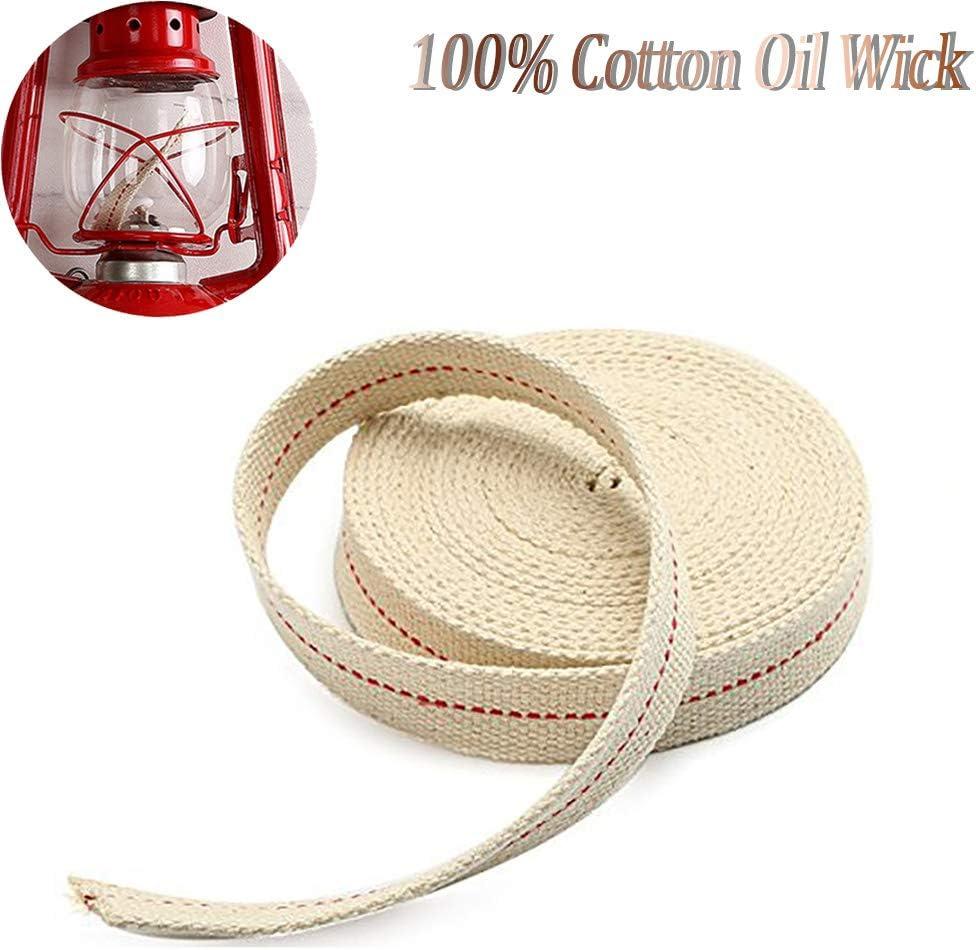 NKlaus 8 mm Stoppino in 100/% cotone naturale per bruciatore a olio con petrolio purificato