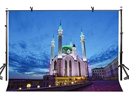 3f9e59d9dce Amazon.com : LYLYCTY 7X5ft Mosque Backdrop Night Mosque Religion ...