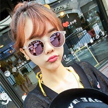 VVIIYJ Gafas de Sol de Color Mujer Cara Redonda Miopía Ojos ...