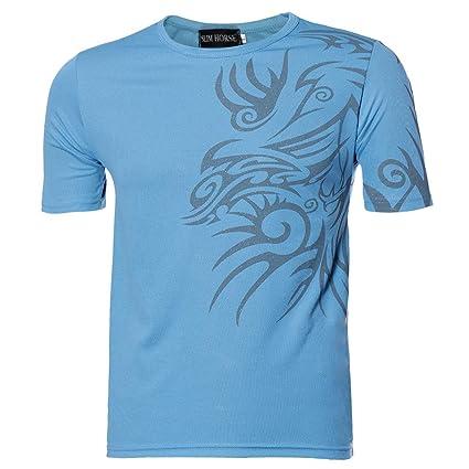 Muium Herren Mode Sommer Tops Kurzarm T-Shirts Männer Sport Tees Slim Design Bottoming Shirt