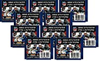 10 (Ten) Packs of 2015 NFL Sticker Collection Football Cards - 10 Sticker Packets (70 NFL Stickers)
