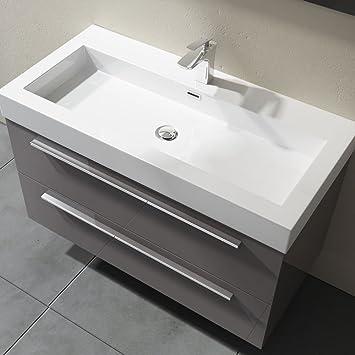 Waschbecken Mit Unterschrank 100 Cm Quadratto Badmöbelset 2 Teilig