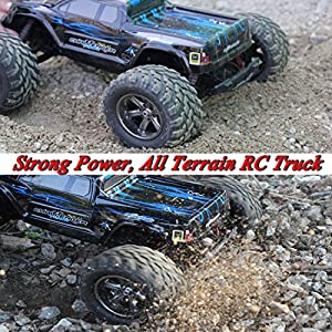 Hosim ZK-01 Terrain RC 9112, 38km/h 1/12 Scale Radio Electric Car-Offroad 2.4Ghz 2WD Remote Control Truck-Best Christm, Black