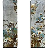Portfolio Canvas Decor Floral in Silver I by Citrine Wall Art (Set of 2), 12 x 36""