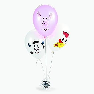 "Fun Express-Make Your Own Farm Animal Balloons- 12 Latex Balloons, 9"": Toys & Games"