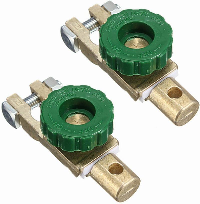 Bornes de batería Wiwir 2piezas adaptador de batería separador protección contra intensidad desconectador de batería 6-24V (tipo 2)