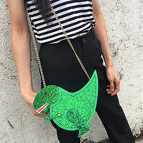 Outtybrave Rosa Fashion Tracolla Messenger Personalità Borsa Design Bag Flap A Pu Moda Femmina Dinosauro Green Crossbody 6IrwIg