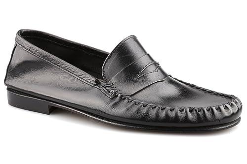 Daniele Lepori Sax Classico, Mocasines para Hombre, Negro (Nero 001), 46 EU: Amazon.es: Zapatos y complementos