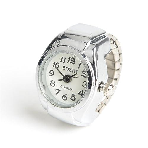 EERLLZ Reloj Hombre Clocks Women Luxury Quartz Watch Women Luxury Brand Steel Lovers Finger Ring Watch