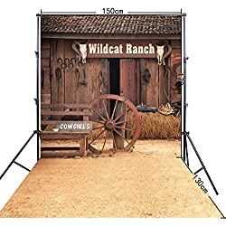 FiVan 5x10ft Cowboy theme Photography background for cosplay photos outdoor scene photo backdrop FF-113