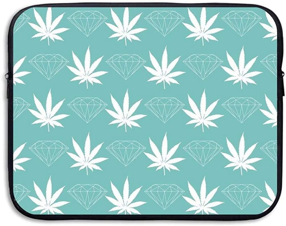 Blue Leaves Pattern 13 Inch Laptop Computer Sleeve Notebook Cover Case Soft Computer Pouch Laptop Protective Bag Pouch