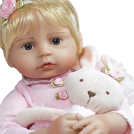 "Cute Reborn baby twins Blond Girl boy Doll 17/"" Berenguer Lifelike Vinyl Silicone"