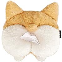 Fancer Tissue Box Cover Soft Adorable Corgi Butt Shaped Creative Storage Bag Hanging Pouch Tissue Box Wrapper for Car…