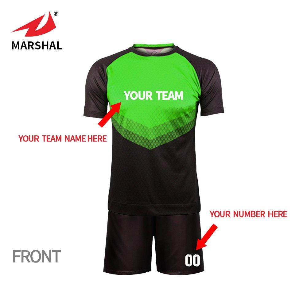 9f4e06720f7 ZHOUKA Custom team numbers name logo youth soccer kit uniform set shorts  jerseys football jersey: Amazon.co.uk: Sports & Outdoors