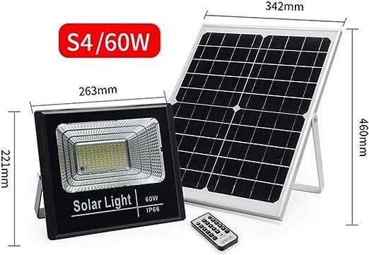 Q-fo LED Foco Proyector Solar Exteriores, Luces De Seguridad para ...